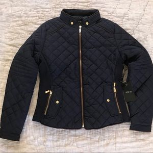 Active USA women's medium quilted navy jacket 💙